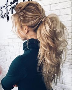 Gorgeous Ponytail Hairstyle Ideas That Will Leave You In FAB - ponytail wedding hairstyles #weddinghair #wedding #hairstyles #ponytail #bridehair #weddinghairstyles