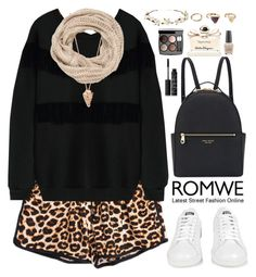 """""""Romwe"""" by oshint ❤ liked on Polyvore featuring Pamela Love, maurices, adidas, Henri Bendel, NARS Cosmetics, Chanel, Salvatore Ferragamo, OPI, Cult Gaia and Forever 21"""