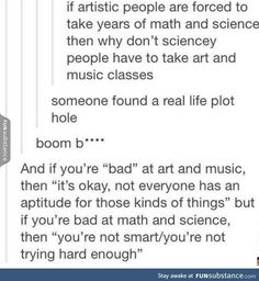 Except you are required to take language/culture classes and fine arts courses despite being science and math majors
