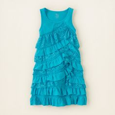 girl - dresses & rompers - ruffle lace dress | Childrens Clothing | Kids Clothes | The Childrens Place