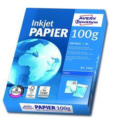 Avery Zweckform 2566A Inkjet Druckerpapier A4, 100 g/m², 500 Blatt, satiniert, hochweiß (Optimierte Schutzverpackung): Amazon.de: Bürobedarf & Schreibwaren
