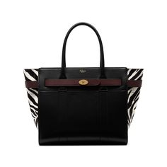 2f8901952e1 Mulberry - Zipped Bayswater in Black, White   Oxblood Zebra Haircalf Mulberry  Bag, Oxblood
