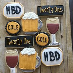 21st Birthday 21st Birthday Cake For Guys, Birthday Images For Her, Indian Birthday Parties, 21st Birthday Decorations, Cookie Cake Birthday, Birthday Wishes For Myself, Birthday Dinners, Cupcake Cookies, Sugar Cookies