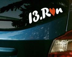 Check out the newest decal available in my Etsy store! #running #13.1 #13.run #decal
