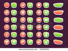 Find Set Interface Buttons Icons Vector Illustration stock images in HD and millions of other royalty-free stock photos, illustrations and vectors in the Shutterstock collection. Game Ui Design, Royalty Free Stock Photos, Buttons, Icons, Games, Illustration, Symbols, Gaming, Illustrations