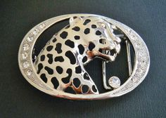 Rhinestone Wild Animal Bengal Tiger Fashion Belt Buckle Boucle de Ceinture #tiger #bengaltiger #jungle #animal #beltbuckle