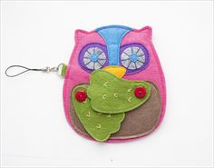 Tutorial to make felt owl coin purse