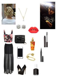 """""""Date with Taylor"""" by captain-america-334 ❤ liked on Polyvore featuring Giuseppe Zanotti, Sam & Libby, Free People, Allurez, Victoria's Secret, Lime Crime, Essie, Laura Mercier and Marc"""