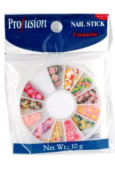 Profusion 3D Nail Art Fimo Slice Decal Nail Decoration Nail Sticker Dessert Set 12 Wheels -- Read more at the image link.