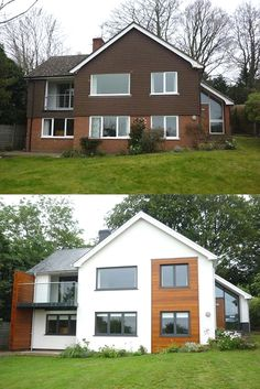 Home Exterior Makeover Exterior Home Makeovers Best Ideas House Makeovers House Front Design Exterior, Modern Exterior, Interior And Exterior, Modern House Exteriors, House Ideas Exterior, Exterior Windows, Diy Exterior, Bungalow Exterior, House Cladding