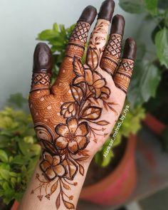 Kashee's Mehndi Designs, Modern Henna Designs, Palm Mehndi Design, Floral Henna Designs, Mehndi Designs For Girls, Mehndi Designs For Beginners, Mehndi Design Photos, Wedding Mehndi Designs, Mehndi Designs For Fingers