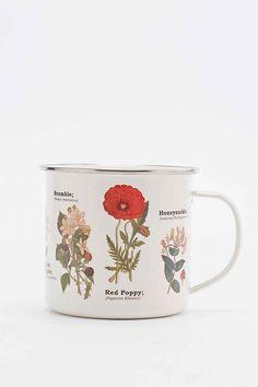 Enamel Flower Mug