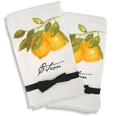"French Country Kitchen Flour Sack Towel Set of 2 - ""Citron"" (Lemon), http://www.amazon.com/dp/B005S2IF1Q/ref=cm_sw_r_pi_awd_6qZxsb1Y7NC2V"