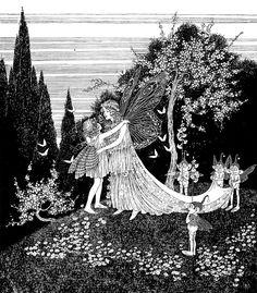 Woodland Creatures, Magical Creatures, Fairy Land, Fairy Tales, Fairytale Art, Conte, Faeries, Art Inspo, Vintage Art