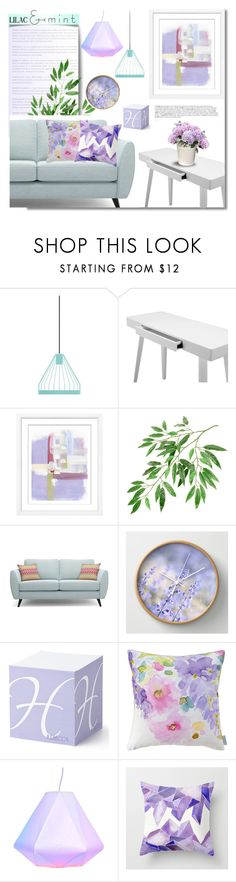 """""""Color Challenge: Lilac & Mint"""" by pattykake ❤ liked on Polyvore featuring interior, interiors, interior design, home, home decor, interior decorating, BoConcept, William Stafford, Bluebellgray and colorchallenge"""