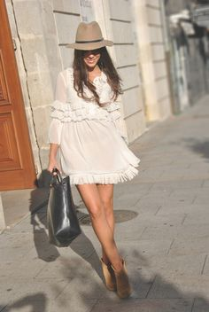 Little white dress.  This I love!! If only I lost weight !