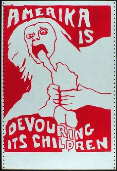 Amerika Is Devouring Its Children by Jay Belloli, 1970