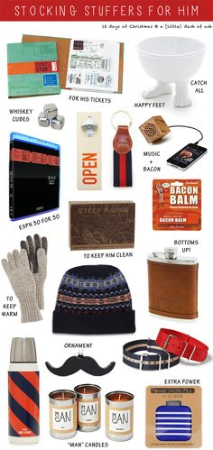 Love these Stocking Stuffers for Him from @Ashley Walters Gale