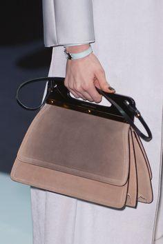 Emporio Armani at Milan Fashion Week Fall 2013 - StyleBistro Fall Handbags, Best Handbags, Purses And Handbags, Fashion Boots, Sneakers Fashion, Milan Fashion, Soft Leather Handbags, Leather Purses, Leather Bags