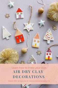 Christmas Makes, Christmas Art, Christmas Holidays, Christmas Ornaments, Clay Christmas Decorations, Handmade Decorations, Holiday Crafts, Christmas Activities, Christmas Projects