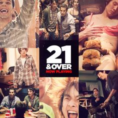 This movie is amazing. Funny, a little sad, and a lot of crazyness. If you liked #ProjectX, this will totally be your cup of tea. The characters are charismetic and that completes the movie even more.. !  #21andOver <3