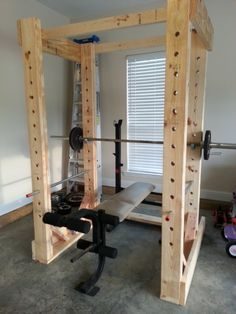 New Home Gym Ideas Workout Rooms Cardio Ideas - Little Glass Jar Home. - Home Gym Home Made Gym, Diy Home Gym, Gym Room At Home, Homemade Gym Equipment, Diy Gym Equipment, Workout Equipment, Fitness Equipment, Training Equipment, Home Gym Garage