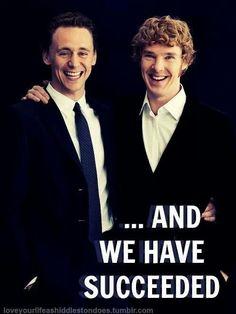 Tom Hiddleston ~ Benedict Cumberbatch ~ Succeeded