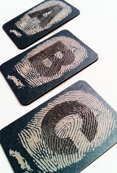 Fingerprint alphabet business cards - Business Cards - Creattica