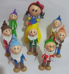 Fofucha snow white & the 7 dwarfs
