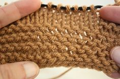 Knooking: The Knit Stitch