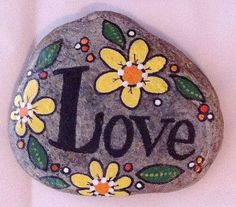 Image result for wildflower rock art