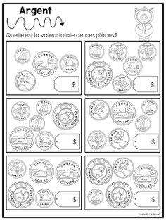 Ces temps-ci, j'aborde les nombres décimaux avec mes élèves en manipulant l'argent. Les élèves ont énormément manipulé les différentes pièc... Maths 3e, Math Term, Learning Money, Learning French For Kids, Money Worksheets, 5th Grade Math, Grade 2, I Love Math, Math Resources