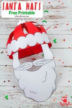 Get Festivewith This Fun Christmas Craft Make And Wear A Cute Paper Santa Hat This Christmas Hat Idea Is Great For Fun Loving Kids And Grown-Ups Free Printable Santa Hat Craft Template Christmas Crafts For Kids To Make, Preschool Christmas, Christmas Hat, Christmas Activities, Crafts To Make, Fish Crafts, Christmas Games, Christmas Printables, Printable Crafts