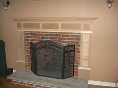 fireplace and flat screen tv designs | recessed panel between the ...