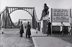 The bridge between East Germany and West Berlin pictured in the early 1960s. Recently opened files show how Stasi officials secretly sold ci...
