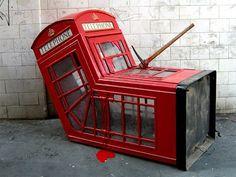 banksy,street art, la cabina assassinata