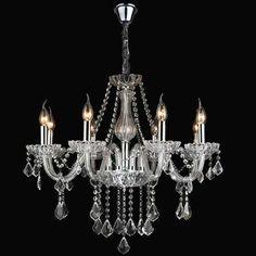 lustre de cristal candelabro 8 braços promoção