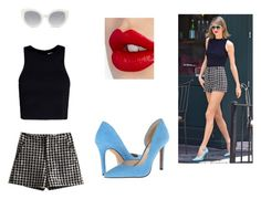 """""""Taylor Swift's Style"""" by aliclm ❤ liked on Polyvore featuring T By Alexander Wang, Charlotte Tilbury, Crap and Jessica Simpson"""