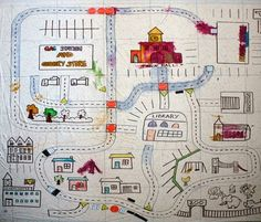 Filth Wizardry: Shower curtain village play mat