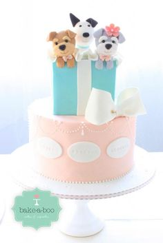 another puppy cake Puppy Birthday Cakes, Puppy Birthday Parties, Puppy Party, Birthday Cake Girls, Bolo Laura, Puppy Dog Cakes, Animal Cakes, Naked Cake, Cake Gallery