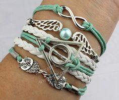 Infinity wish bracelet harry potter bracelet wings by handworld, $7.99