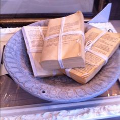 Neat idea to repurpose old books into something decorative.