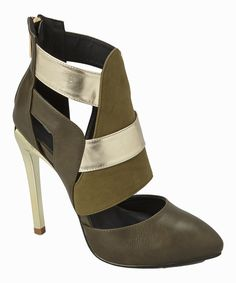 Look at this L & K footwear Green & Gold Cutout Bianca Pump on #zulily today!