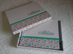 Álbum para registrar os primeiros momentos da Melissa produzido por Mônica Guedes