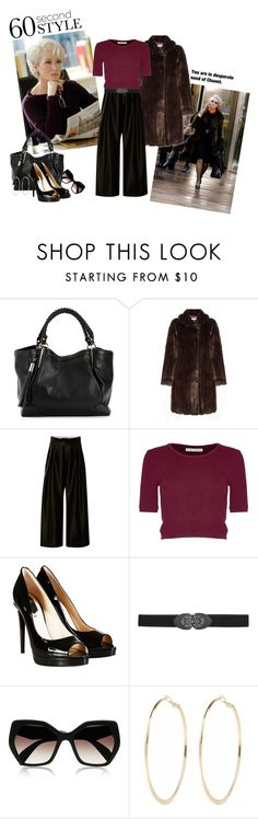 """""""The Devil Wears Prada"""" by pellipellina ❤ liked on Polyvore featuring Prada, John Lewis, E L L E R Y, Alice + Olivia, Fendi, maurices, River Island, Halloween, 60secondstyle and villaincostume"""
