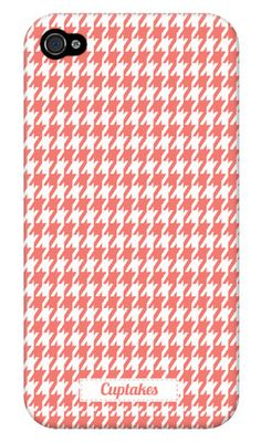 Peachy Houndstooth! iphone case