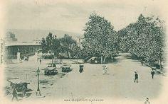 Žabica, Rijeka: 1883.Na visokom zidu samostana izvedena je mala fontana sa žabom iz čijih usta teče voda. Na zidu je bila i Bogorodica s Kristom ispod koje je bila uzidana engleska, metalna, topovska kugla iz 1813.