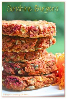 Sunshine Burgers: they'll disappear as quickly as you serve them! (vegan)