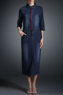 SHARE & Get it FREE | Striped Denim Maxi DressFor Fashion Lovers…