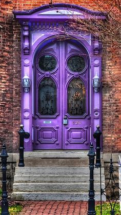 Crazy double doors in purple